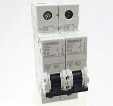 2x Siemens 5sj41 c6 backup sportello automatico 5sj4106-7cc20 Linea Interruttore 6a 1p