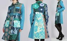 NWT NEW DESIGUAL Coat Jacket Long 42 XLarge LINING patchwork EMBROIDERED RARE