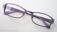 4me romantische Damen Brille Metall Gestell lila Designbügel ausgefallen size M