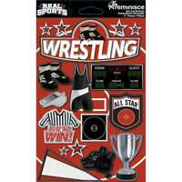 Real Sports Dimensional Cardstock Stickers Wrestling 895707189079