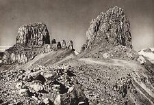 1925 Vintage CANADA ~ Alberta-British Columbia Boundary Peak Landscape Photo Art