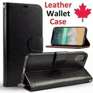 For iPhone 12 XR XS 11 Pro Max Case - Leather Flip Wallet Stand Card Slot Cover