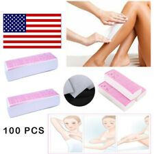 US 100pcs Depilatory Wax Strips Nonwoven Hair Removal Paper Waxing Tool Epilator