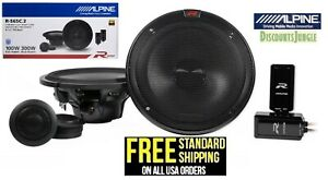 "ALPINE R-S65C.2 300w 6.5"" Car Audio Component Speakers w/1"" Tweeters --NEW"