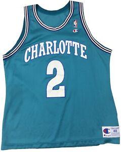 Vintage Larry Johnson Charlotte Hornets Champion NBA Basketball Jersey 48