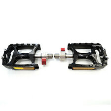 """Wellgo QRD-M138 Road Mountain MTB Bike Bicycle 9/16"""" Alloy Pedals - Black"""