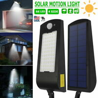 Waterproof 66 LED PIR Motion Sensor Solar Powered Light Outdoor Yard Garden Lamp