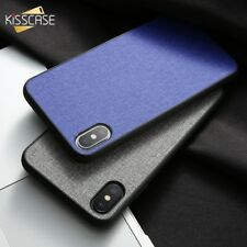 Hybrid Soft TPU Fabric Case Shockproof Cover For iPhone X XS Max XR X 8 7 Plus