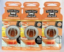 3 Yankee Candle Smart Scent Vent Clip PASSION FRUIT MARTINI Car Air Freshener