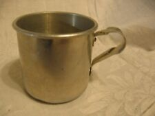 vintage childs small aluminum water cup camping cups