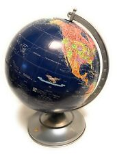 "Replogle 12""  Midnight World Desk Globe Dark Blue Ocean and Aluminum Base"