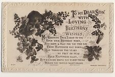 Vintage Postcard - To My Dear Son with Loving Birthday (Beagles) - Unposted 1953