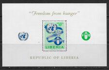 LIBERIA , UN , 1963 , FREEDOM FROM HUNGER , SOUVENIR SHEET , PERF , MNH