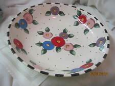 Vintage 1994 Mary Engelbreit large Bowl Gaetano Pottery Fried Egg Flowers