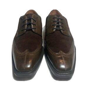 Antonio Cerrilli Mens Classy Rich Brown Suede Wingtip Dress Shoes 6391  SZ.10