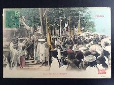 CP carte postale Indochine Tonkin Fête du Têt Guignol