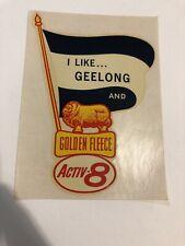 RARE 1960s GEELONG CATS GOLDEN FLEECE ACTIVE 8 VINTAGE STICKER TRANSFER VFL MINT