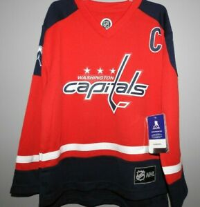 "NHL Washington Capitals #8 OVECHKIN ""C"" Hockey Jersey New Youth Sizes"
