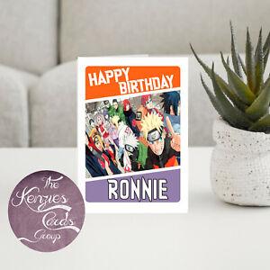 Personalised Naruto Managa Animie Birthday Card-A5 260gsm Gloss Finish V3