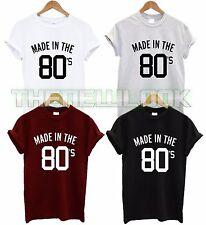 MADE IN THE 80S T SHIRT BIRTH YEAR BIRTHDAY 80S KID FASHION TUMBLR TSHIRT GIFT