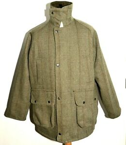 Superb Countrywide Green Derby Tweed Shooting Coat Jacket Window Pane /size M