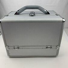 "12/8"" Aluminum Makeup Train Case Jewelry Box Cosmetic Organizer Storage w lock"