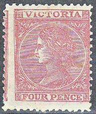 Victoria Australian States SG 110c 4d Pink Perf 12 Mint no gum