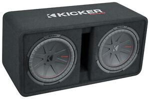 "KICKER 48DCWR122 CompR 12"" 2000w Dual Subwoofers+Vented Sub Enclosure COMPR12"