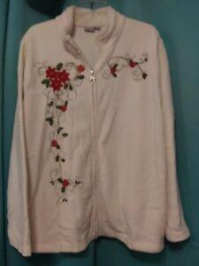 Ladies plus size Holiday edition Size 2X beautiful warm jacket fleece