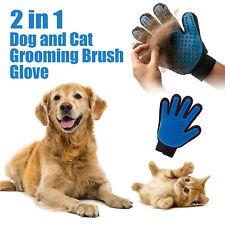 Pet Grooming Gloves Brush Dog Cat Hair Remover Mitt Massage Deshedding Hackle