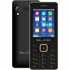 Slide Dual SIM Unlocked Quad-Band GSM Cell Phone, Black