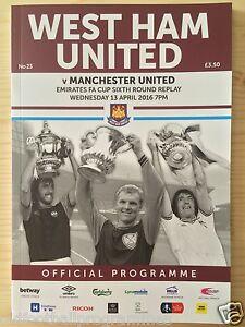 WEST HAM V MANCHESTER UNITED (13/04/2016) (LAST F.A CUP MATCH AT Boleyn Ground)