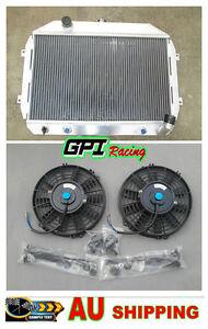 FOR Nissan Datsun 240Z/260Z L24/L26 70-1975 AT/MT Aluminum Radiator +fan