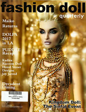 Fashion Doll Quarterly FDQ Winter 2017 NEW Racoon Doll, Joy Jarred, Dolpa, Puddl