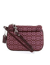 Coach Signature C Dusty Pink Small Wristlet Clutch Bag F48400