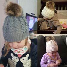 Малыш дети девочка и мальчик для детей младенцев зимние теплые крючком вязаная шапка шапочка,