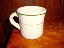 Vtg Coffee Mug Restaurant Ware Diner Green Line