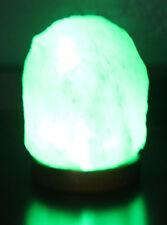 100% Pure Pink Himalyan Salt Rough Shaped USB Lamp w/ polished Wood Base