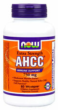 NOW Foods AHCC 750 mg - 60 vcaps HEALTHY NATURAL KILLER (NK) CELL FUNCTION