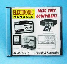 Misc Test Equipment Manuals On Cd Simpson Fluke Agilent Leader Marconi More