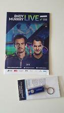 Rare Andy Murray Live Official Programme 2017 vs Federer Glasgow +Flashlight