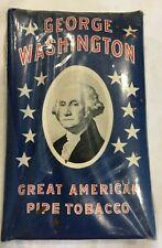 Vintage George Washington Great American Pipe Tobacco Package Pre-WWII