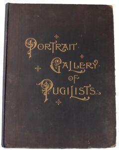 The Portrait Gallery of Pugilists. Pugilism Bare Knuckle Boxing Print Book 1894