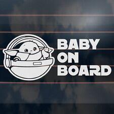 BABY YODA ON BOARD Sticker 200mm star wars mandalorian car vinyl decal