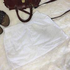 Pins & Needle Cotton Eyelet Boho Festival Anthropologie Tutu Skirt Elastic Waist