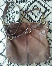 FOSSIL Brown Leather WINSLET SHOULDER BAG Tote Purse Crossbody Bucket Hobo
