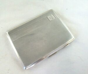 Solid Silver LARGE ENGINE TURNED CIGARETTE CASE  Hallmarked:-CHESTER 1930