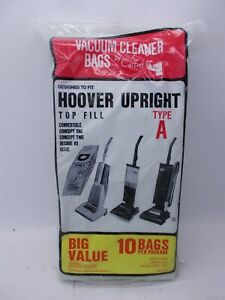 Hoover Carpet Care Type A for Hoover Upright Vacuum Lot of 10 Bags SEALED