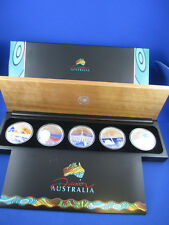 2006 Discover Australia Series, Silver Proof Five-Coin Set 1oz Complete.!!!