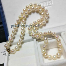NEW AAAA 7MM  WHITE AKOYA PEARL NECKLACE 14K 18 INCH